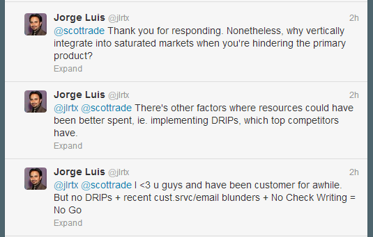Twitter Response to Scottrade