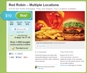 Red Robin Daily Deal